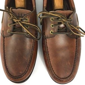 Men's Brown Leather Boat Shoes Loafers Unworn
